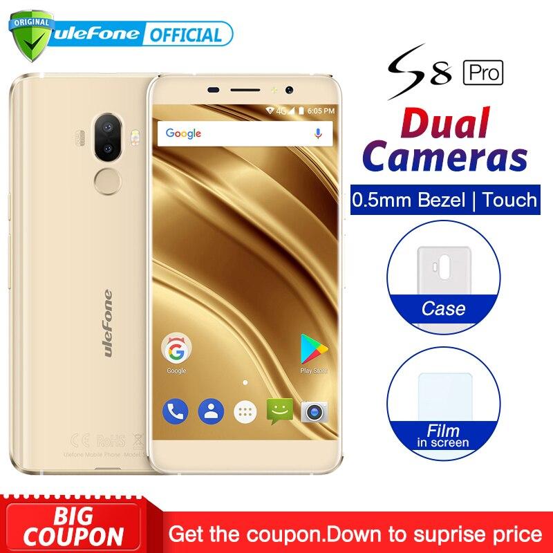Ulefone S8 Pro Dual tylne kamery telefonu komórkowego 5.3 cal HD MTK6737 Quad Core Android 7.0 2 GB + 16 GB 13MP linii papilarnych 4G Smartphone w Telefony Komórkowe od Telefony komórkowe i telekomunikacja na AliExpress - 11.11_Double 11Singles' Day 1