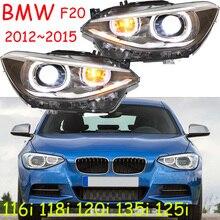 كشافات مصد الصدمات للمصابيح الأمامية BMW F20 116i 118i 120i 135i 125i 2012 ~ 2015 إضاءة أمامية F20 مصباح أمامي ثنائية زينون عدسة hi lo HID