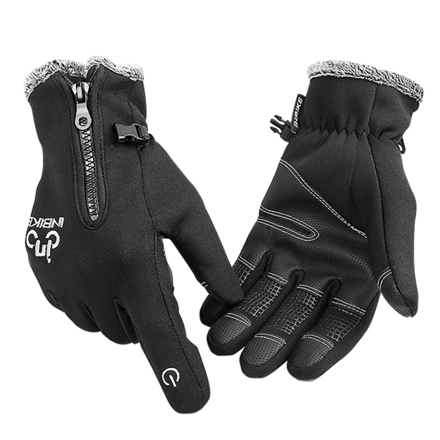 Heated motorcycle gloves new zealand - Winter Touch Screen Cycling Bicycle Gloves Heated Motorcycle Gloves Windproof Full Finger Gloves For Men And
