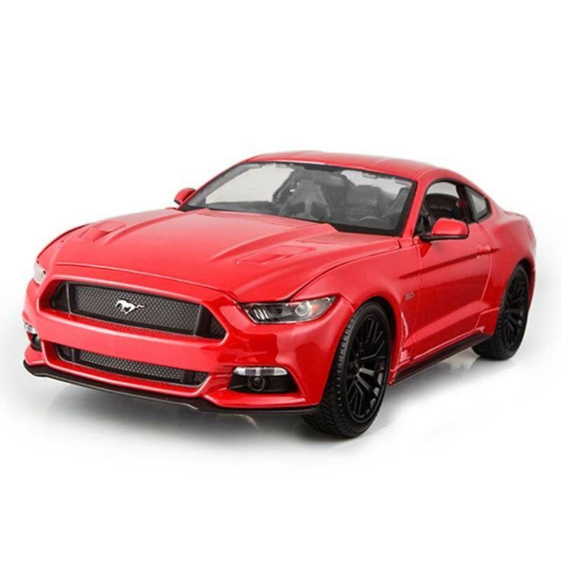 1/18 échelle en alliage moulé sous pression Maisto voiture modèles décor maison Imitation voitures mkd2 pour enfants Ford Mustang/GT Muscle sport voiture jouet