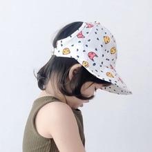 Soft Cotton Summer Baby Empty Top Hat Infant Boys Girls Bucket Hat Cotton Toddler Kids Sun Cap