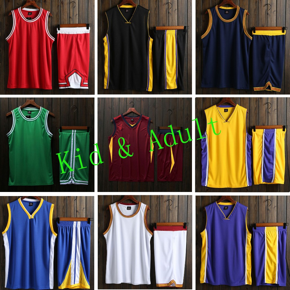 d6cf068ae Kids   Adult College Basketball Jerseys Youth Basketball Uniforms Cheap  basketball jersey Shorts Sets