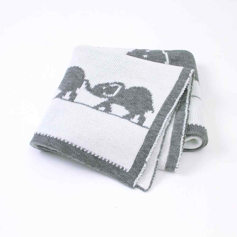 ベビー毛布ニットソフト新生児おくるみラップ動物象の幼児の少年少女スローキルト子供ソファ寝具毛布漫画
