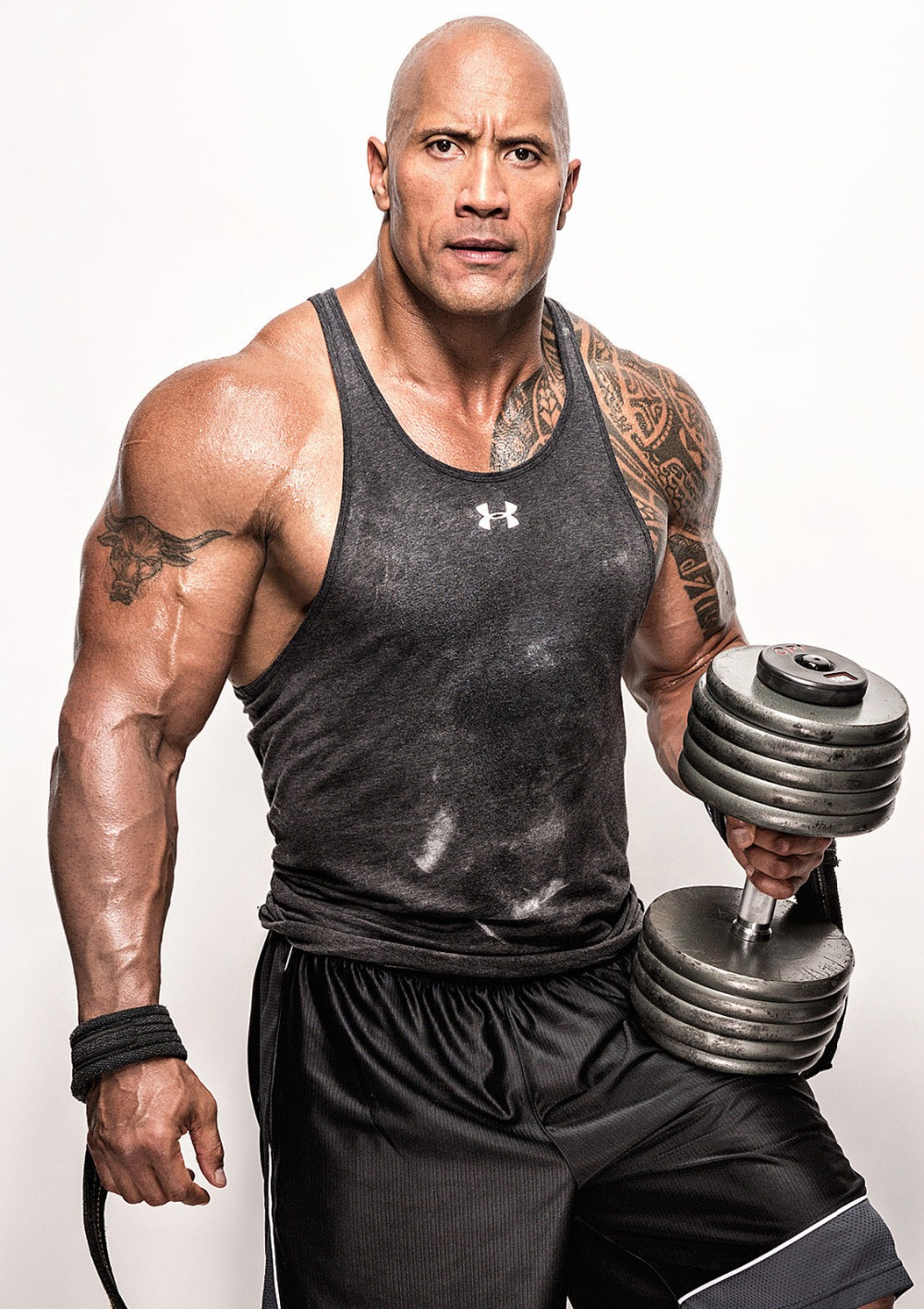 Us 2 76 25 Off The Rock Dwayne Johnson Muscle Bodybuildin Silk Poster Print Fitness Inspirational Picture For Room Wall Decor In Painting