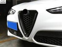 Бесплатная Доставка 1 шт. углеродного волокна спереди лица Чистая украшения кадр Тюнинг автомобилей для 2017 2018 Alfa Romeo Giulia stelvio