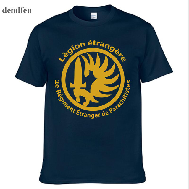 New French Foreign Legion Special Forces War Army T Shirt Men Cotton