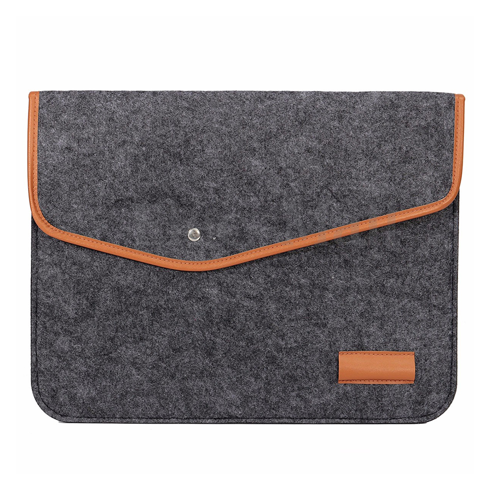 Chemical fiber felt Sleeve Laptop Case Cover Bag for MacBook Air Pro Retina 12 Dark Gray