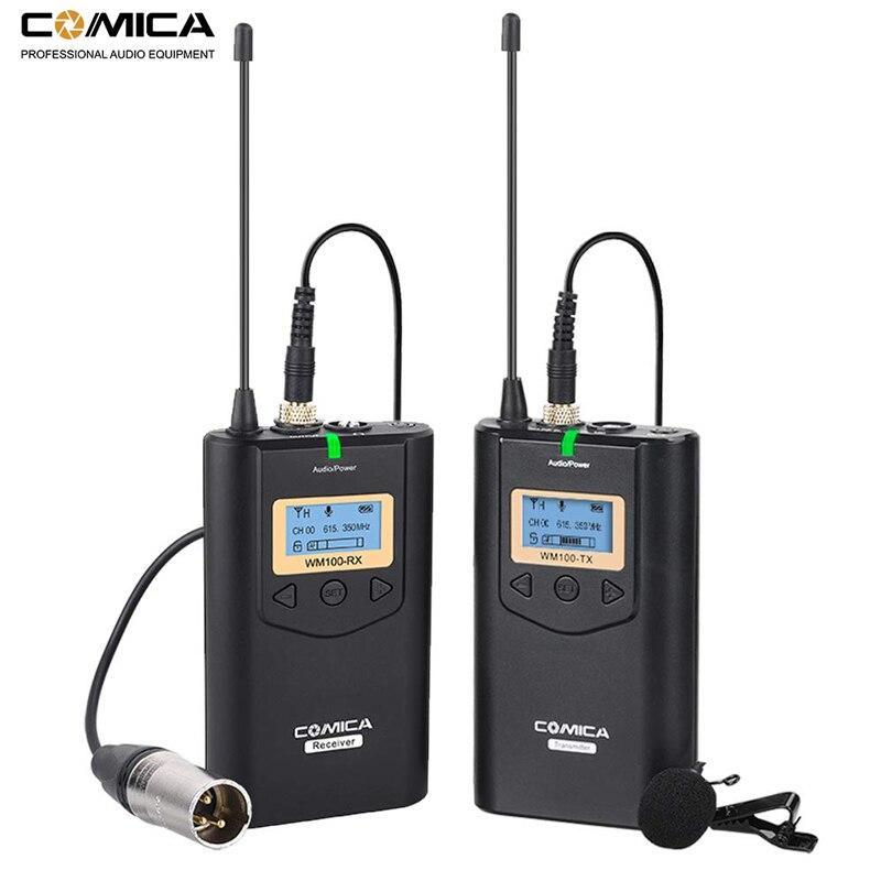 Comica CVM WM100 UHF 48 Channels Wireless Lavalier Lapel Microphone System for Canon Nikon Sony DSLR Cameras/ Smartphones etc.Microphones   -