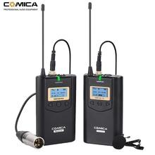 Компактная Беспроводная петличная микрофонная система Comica CVM WM100 UHF, 48 каналов, для цифровых зеркальных камер/смартфонов Canon, Nikon, Sony и т. Д.