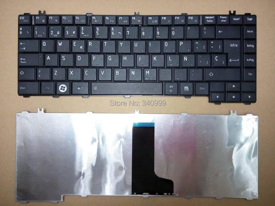 Free Shipping New Laptop Keyboard For Toshiba Satellite L645 L645D C600 C600D C640 C645 Keyboard Spanish Teclado Black