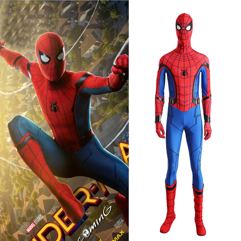 Sensfun Spiderman cosplay costume adult Halloween costumes kigurumi costume Spandex Spiderman jumpsuit custom made For carnaval