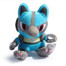 7″18cm Lucario Plush Toy Stuffed Peluche Toys Dolls Gifts For Children Free Shipping