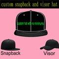 Пользовательские Snapback Плоская Шляпа 3D Вышивка для Взрослых Мужчин Женщин Сшитое Cap Персонализированные Adjustaball Козырек Бейсболки