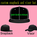 Custom Snapback Hat Flat 3D Embroidery for Adult Men Women Custom Made Cap Personalized Visor Adjustaball Baseball Caps