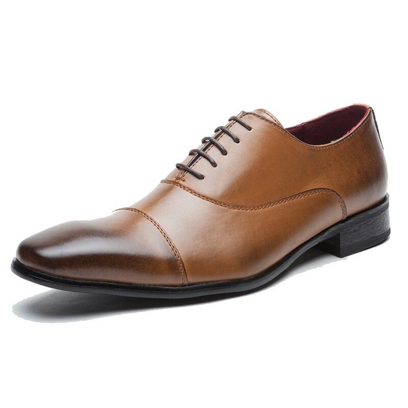 Homem Rendas Casamento De Brogue Homens marrom Couro Dxkzmcm Marrom Vestido Formal Oxford Sapatos Festa Handmade Preto Genuíno Até 7FYwHAq