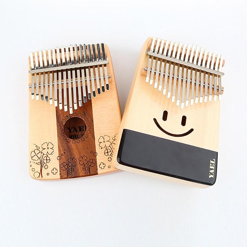 BATESMUSIC Kalimba 17 Keys Thumb Piano 17 Keys Easy-to-play Finger Piano Mbira Solid Mahogany Wood