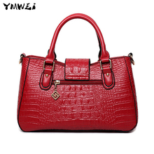 The new 2016 crocodile grain temperament female bag Ms fashionable shoulder hand bag