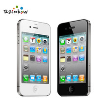 Unlocked Originele Apple iPhone 4 Mobiele Telefoons 8/16/32/GB ROM 5MP Camera IOS Gratis Verzending