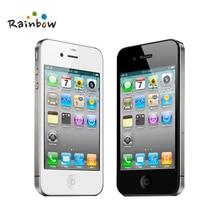 Unlocked Orijinal Apple iPhone 4 Cep Telefonları 8/16/32/GB ROM 5MP Kamera IOS Ücretsiz Kargo