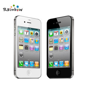 Unlocked Original Apple iPhone 4 Cell Phones 81632GB ROM 5MP Camera IOS Free Shipping