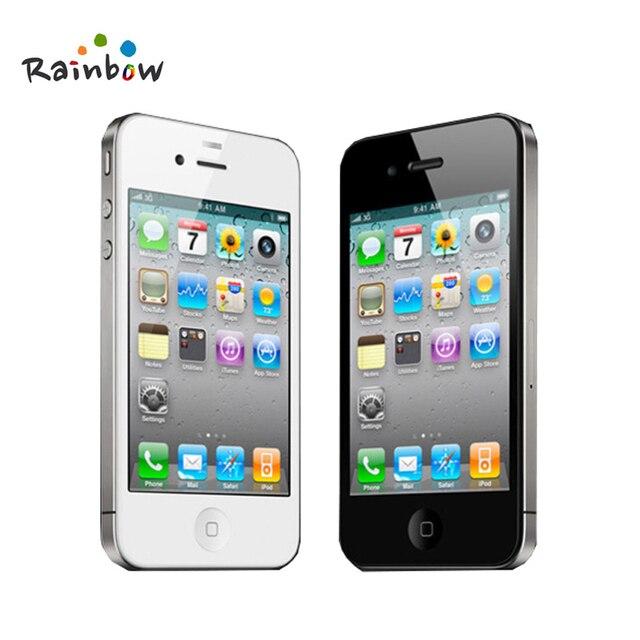 Unlocked Original Apple iPhone 4 Cell Phones 8 16 32 GB ROM 5MP Camera IOS  Free Shipping b7333de9a6