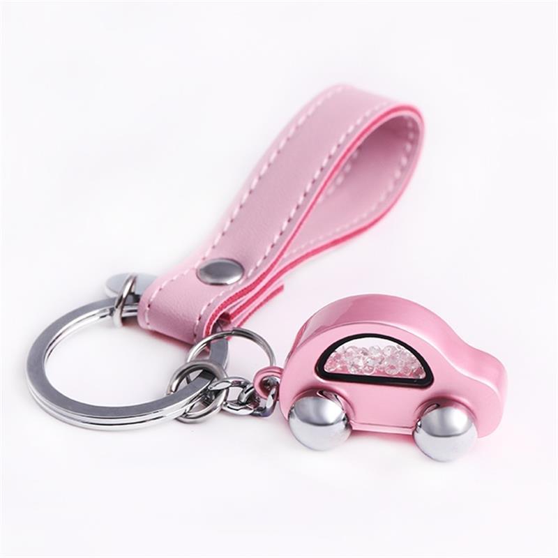 Milesi Car Keychain Women Car Shape Key Holder Trendy Rhinestone Key Ring Cute Pendant For Girl K0254 keychain holder key ring with vine bottle pendant 3pcs