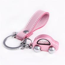 Milesi Car Keychain Women Car Shape Key Holder Trendy Rhinestone Key Ring Cute Pendant For Girl K0254