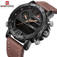 メンズ腕時計にブランド高級naviforce男性スポーツ腕時計防水ledデジタルクオーツメンズミリタリー腕時計男性時計 -