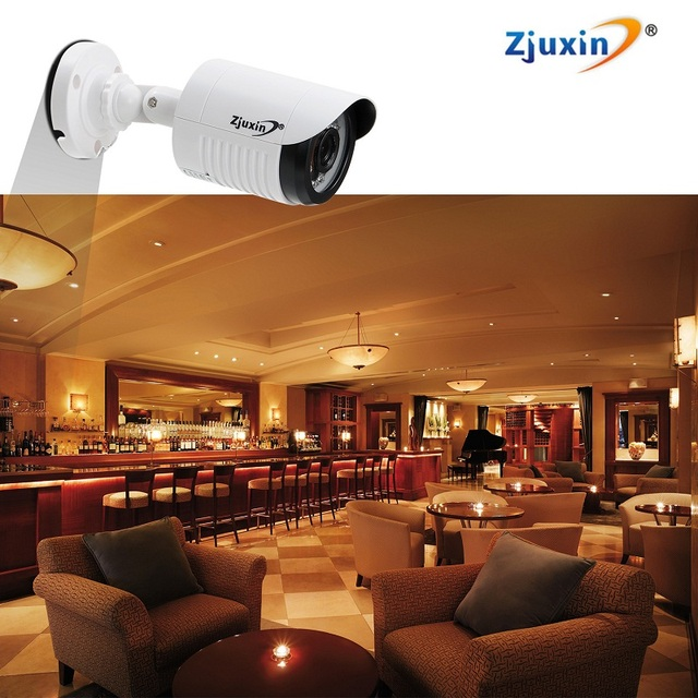 1PC Zjuxin ahd camera 1080p 5*24 LED ahd 2mp camera with HD 3.6mm lens V30 DSP+SONY IMX323 Sensor good day and night image