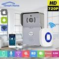 Беспроводной IP-ДВЕРНОЙ Звонок С 720 P Камеры Видео Телефон БЕСПРОВОДНОЙ Дверной звонок Ночного Видения ИК Motion Detection Alarm для IOS Android