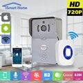 Wifi teléfono ip inalámbrico timbre con 720 p cámara de vídeo timbre de la puerta de visión nocturna ir motion detección de alarma para ios android