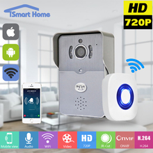 Wireless IP Doorbell With 720P Camera Video Intercom Phone WIFI Door bell Night Vision IR Motion Detection Alarm for IOS Android