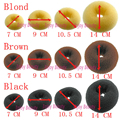 1pc Free Shipping Manufacture 3-Color Fashion Beauty Donut Hair Styling Maker Hair Roller Dropshipping Hair bun Ring CPGM