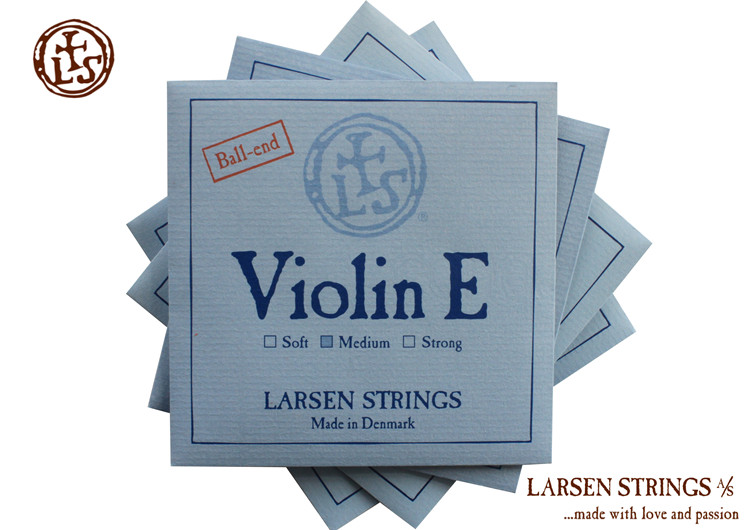 Free Shipping Larsen Violin strings ball-end Larsen standard violin sets strings include E, A, D, G original thomastik vision solo vis100 4 4 violin strings full set med alum d made in austria free shipping
