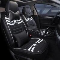 Автокресло Обложка авто чехлы сидений автомобиля кресло кожаный чехол для форд мондео mk3 mk4 mondeo mustang ranger s max transit