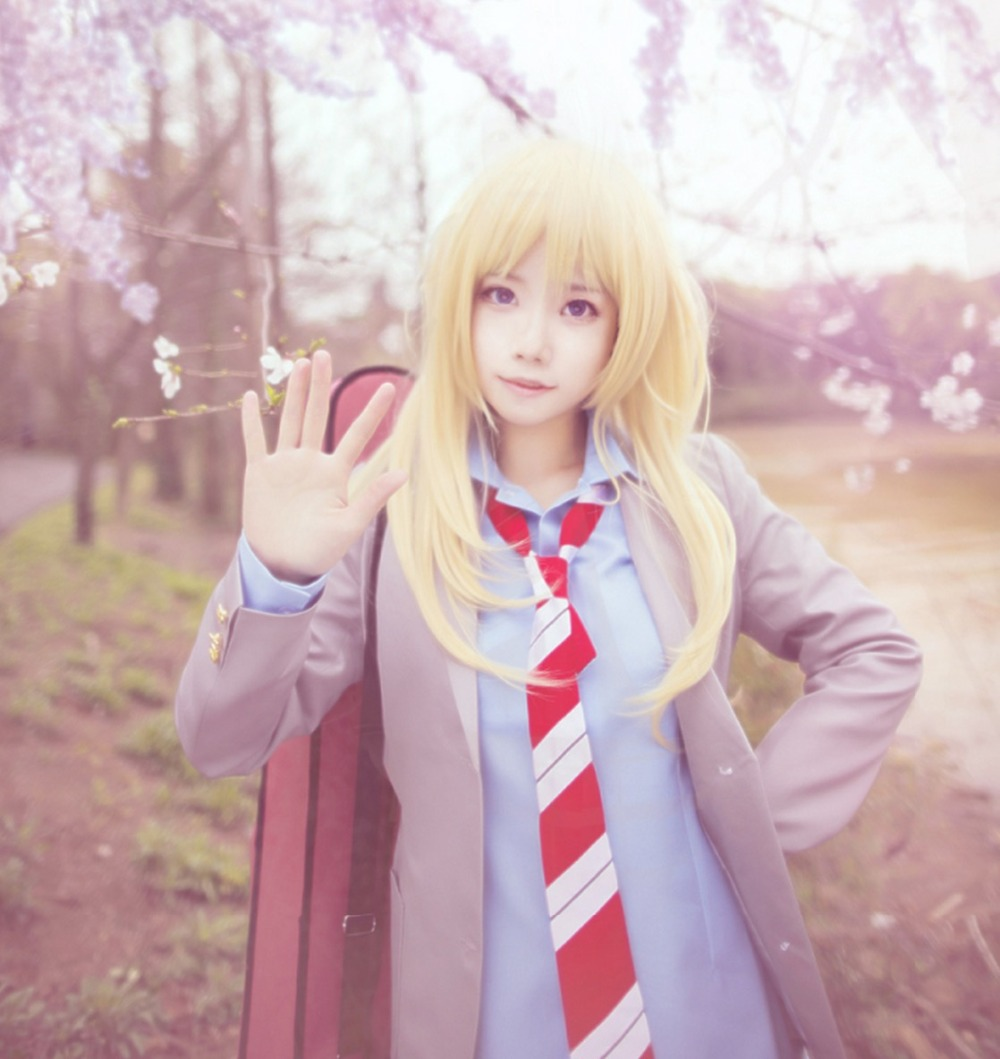Your Lie in April Kaori Miyazono Cosplay Costumes Set Japan School JK Uniform