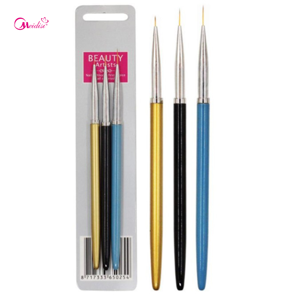 Closeout 3pcs Nail Tools Painting Pen Flower Pen Nail Supplies DIY ...