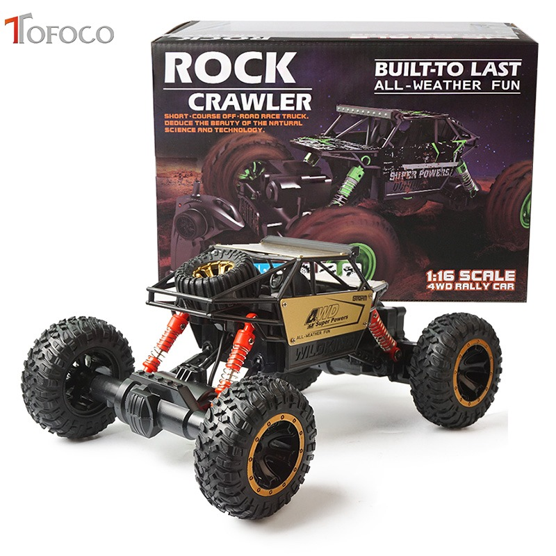 TOFOCO New Alloy High Speed Four-Wheel Drive Rc Car Climbing Dirt Bike Buggy Radio Remote Control Racing Car Model Toys For Kids china remote control dune buggy huanqi rc cars electric car baby amphibious four wheel drive hummers car with brake lights music