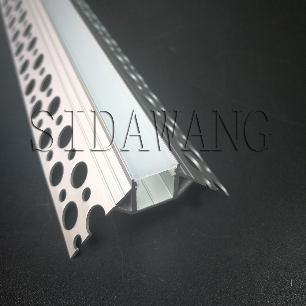 2meter piece Plaster Trimless Recessed Drywall Profile for Outside Wall Corner SDW060