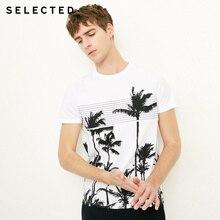 купить!  SELECTED новая футболка с офсетной печатью с короткими рукавами и короткими рукавами
