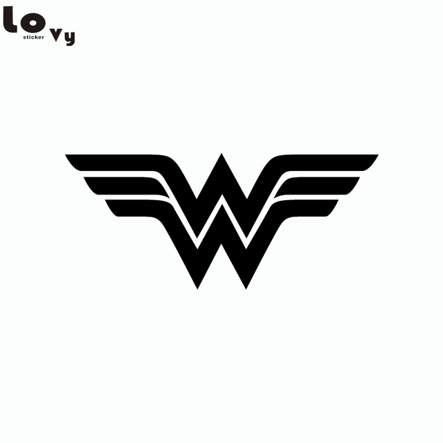 Wonder Woman Logo Wall Sticker Superhero Vinyl Wall Decal
