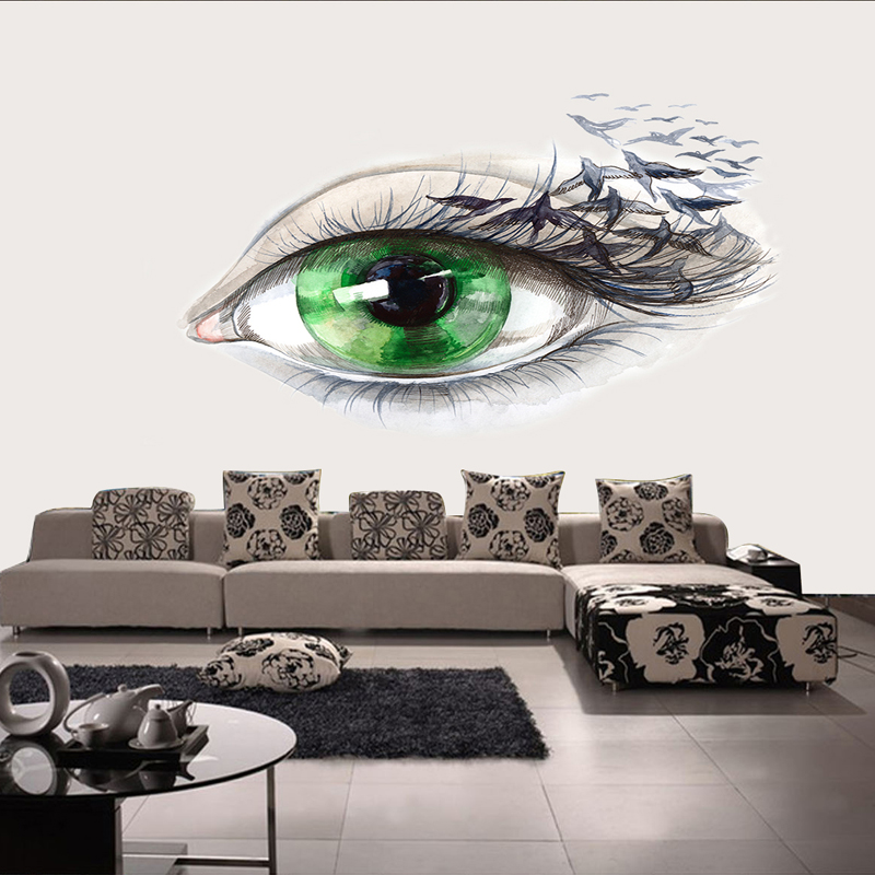 Custom <font><b>3D</b></font> Papel Murals <font><b>Sexy</b></font> Green Eye <font><b>3d</b></font> <font><b>Wall</b></font> Photo Murals Wallpaper for Living Room Background <font><b>3d</b></font> Mural <font><b>Wall</b></font> <font><b>paper</b></font> Stickers image