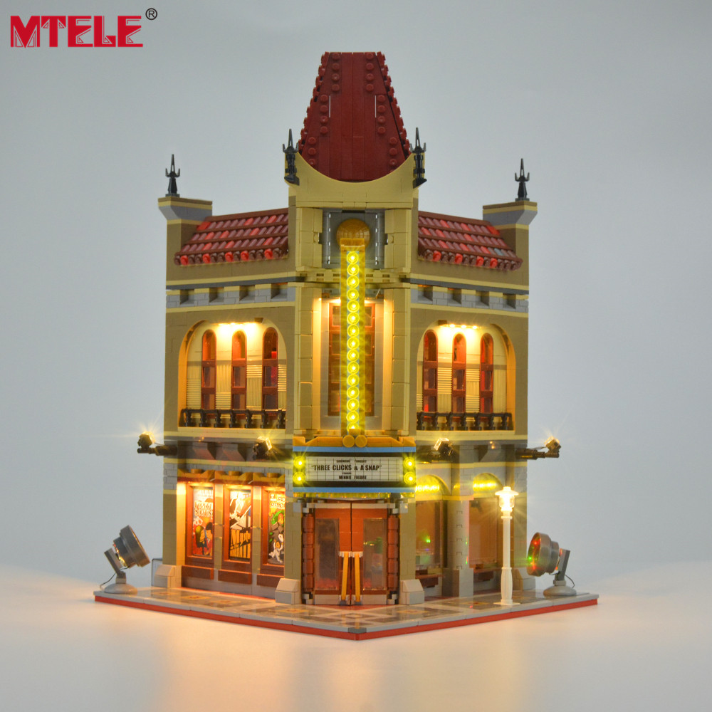 MTELE Brand LED Light Up Kit For Creator City Street Palace Cinema Light Set Compatible With 10232 ( Not include the model )