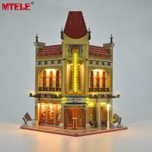 Mtele kit para iluminação de led, conjunto de luz de criador, cidade, palácio, cinema, compatível com 10232 (não inclui o modelo)