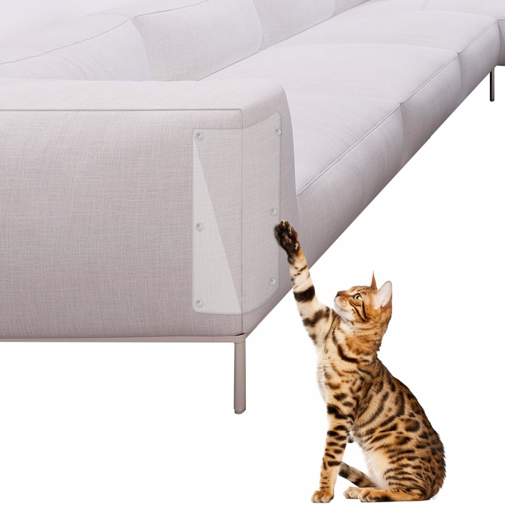2pcs/lot Furniture Cat Scratch Guards Stops Couch Sofa Protector Pads Anti Scratching Protecting Corner Cover Pvc