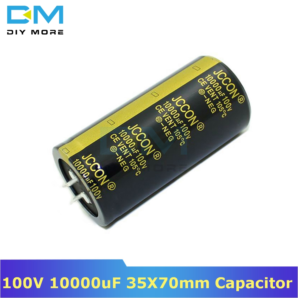 100V 10000uF 35X70mm 35X70 Aluminum Electrolytic Capacitor High Frequency Low Impedance Through Hole Capacitor 35*70mm Diymore