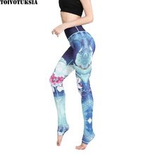 TOIVOTUKSIA  3D Floral leggings for women sporting fitness legging athleisure bodybuilding sexy womens pants