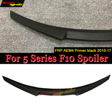 F10 Tail Spoiler Wing FRP Unpainted M4 Style Fits For BMW 5 Series F10 520i 525i 530i 535i 550i Rear Trunk Spoiler Wing 2010-17 for bmw 5 series 535i 550i e61 rear air ride suspension air spring bag 2008 2010