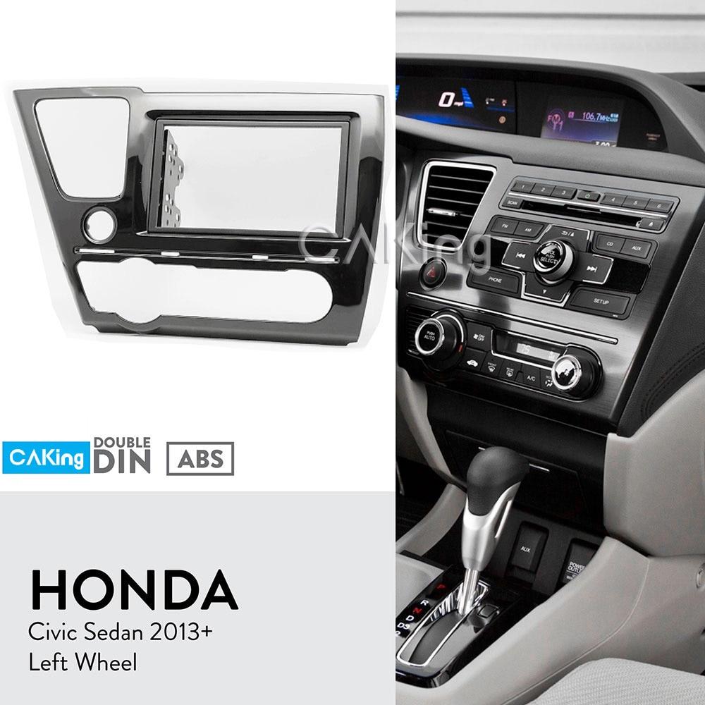 Car Radio Stereo Single Double Din Dash Kit Trim Panel for 2015-2016 Honda Fit