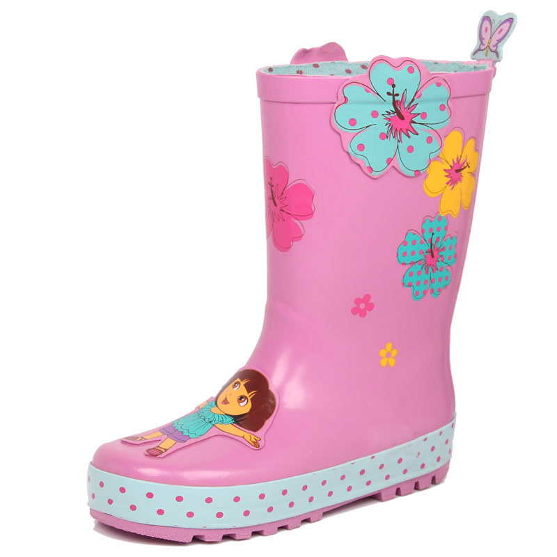 Fashion Kidorable Child Rubber Rain Boots Girls Kids Rainboots Water Shoes Toddler Gumboots